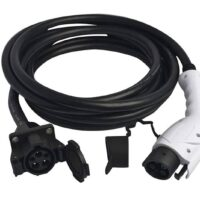 Duosida J1772 Extension Cord/Socket to Plug Extension Cord 32A Level2 4.7M (15 Feet)