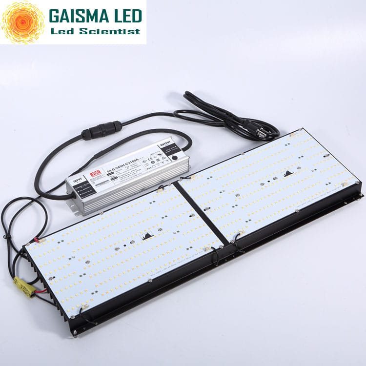 Gaisma Board 240W Full Spectrum Grow Light with Samsung LM 301b & CREEXPE red 660nm far red & LG uv