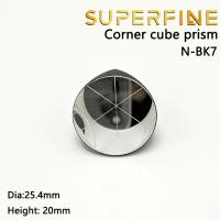 BK7 silver coated 1inch Corner Cube Prism, Plated 25.4mm Trihedral Retroreflector, 5 arc secs return Beam