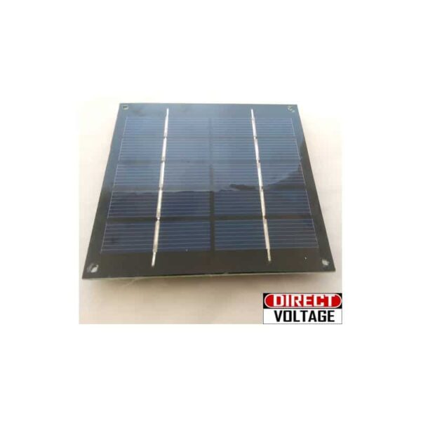 1.25 Watts 6 Volts 250ma Solar Panel poly-crystalline. No leads