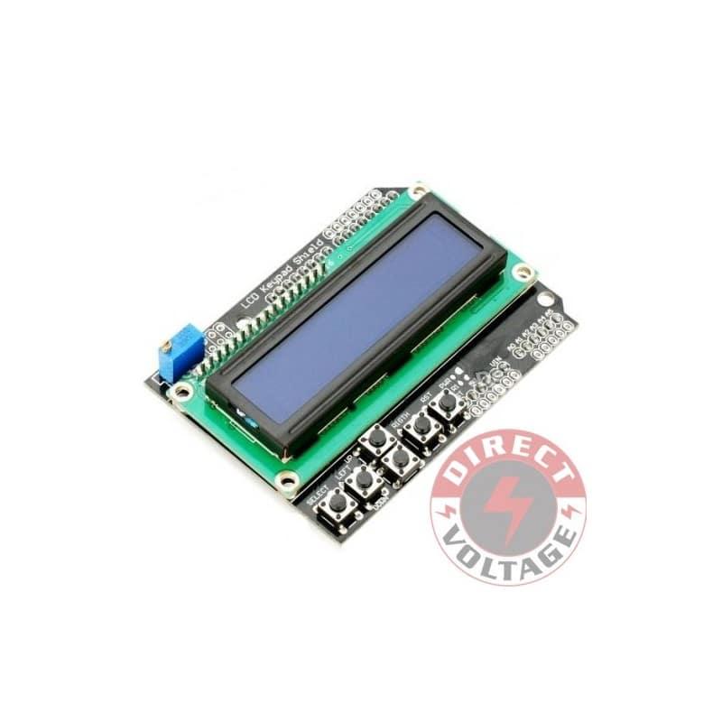 Lcd keypad board shield blue backlight for arduino