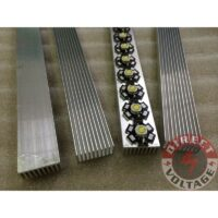 30cm High Power LED aluminum Heatsink 300mm*25mm*12mm for 1W,3W,5W LED emitter diodes chip bulb
