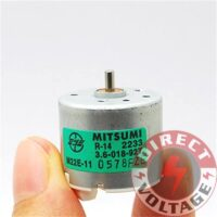 3W Six pole rotor dc micro motor 3.6v 5700RPM CCW for diy smart car power