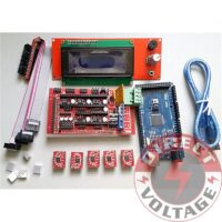 MEGA2560, RAMPS1.4, 3D PRINTER BOARD & 5PCS DRV8825 & LCD 2004 SMART DISPLAY
