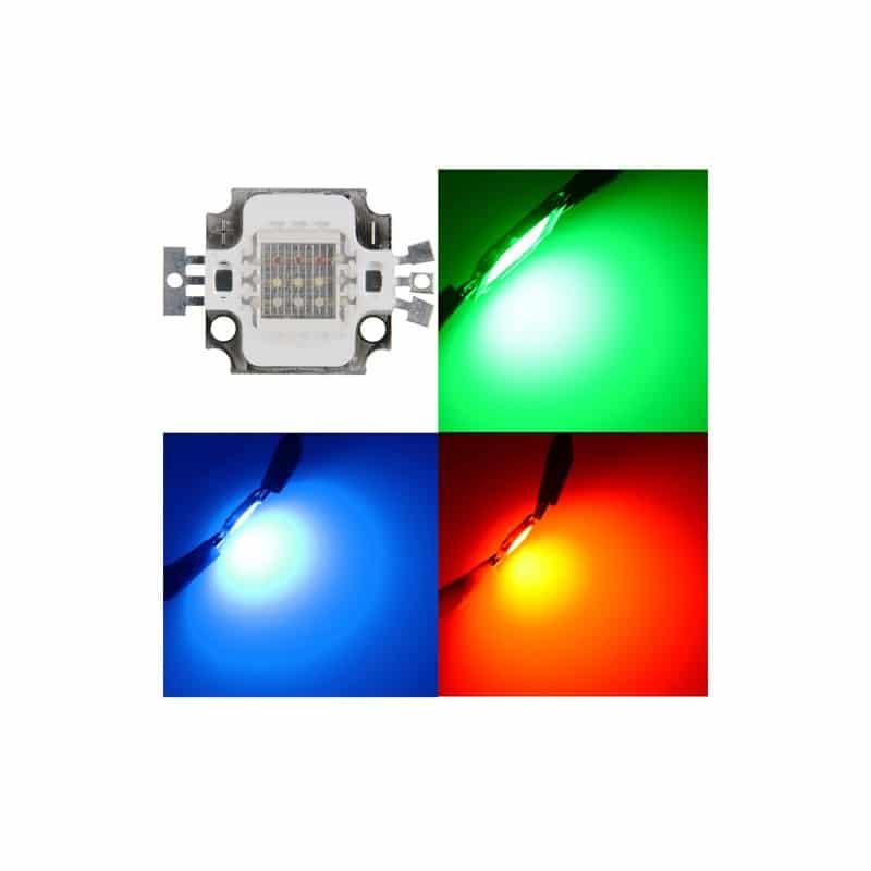 10w Rgb Led High Power Chip Red Green Blue 12v 10