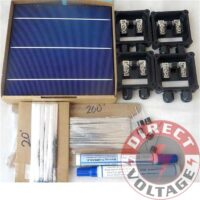 100PCS BSE 6x6 Solar panel kit. 100 BSE 4.19W solar cells, Tabbing and Bus wire , Flux, Diodes.