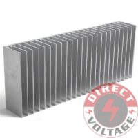 60x150x25mm Silver Aluminum Heat Sink for LED and Power IC Transistor