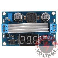 LTC1871 100W 3-35V 12V to 3.5-35V Boost Step-up Module LED Voltmeter+Heat Sink