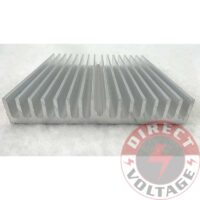 60*60*10mm Silver Aluminum Heat Sink for LED and Power IC Transistor