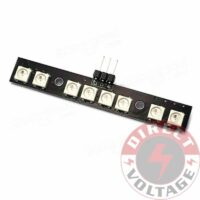 Matek LED Light Strip Board RGB WS2812B 7 Color w/ MCU for FPV Quad Drone Race