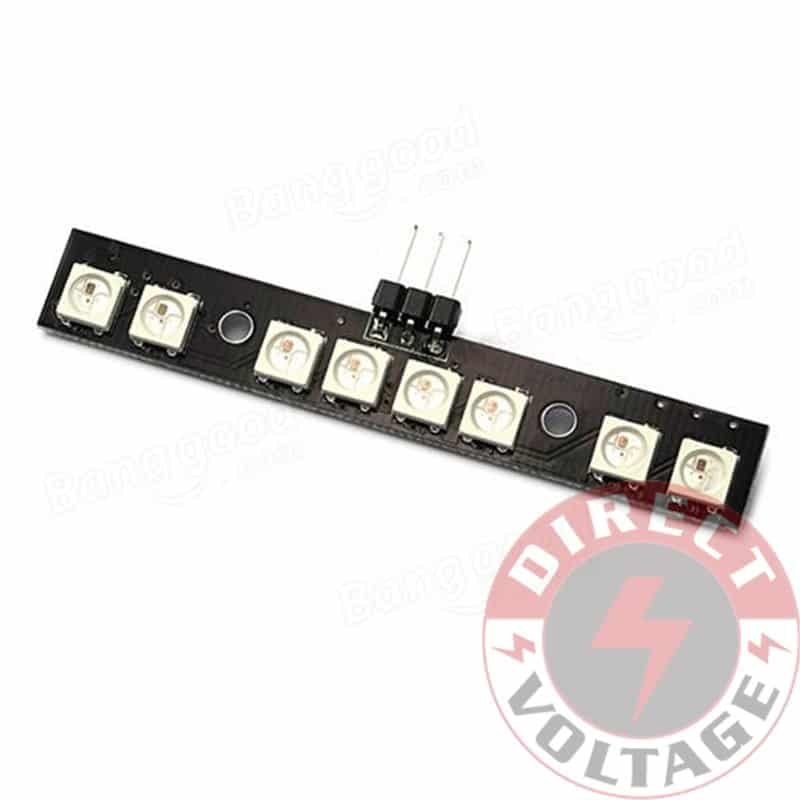 Matek LED Light Strip Board RGB WS2812B 7 Color W/ MCU For
