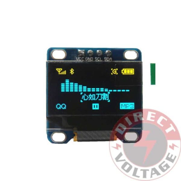 "0.96"" I2C IIC 128X64 LED OLED LCD Display Module Arduino Yellow - Blue"