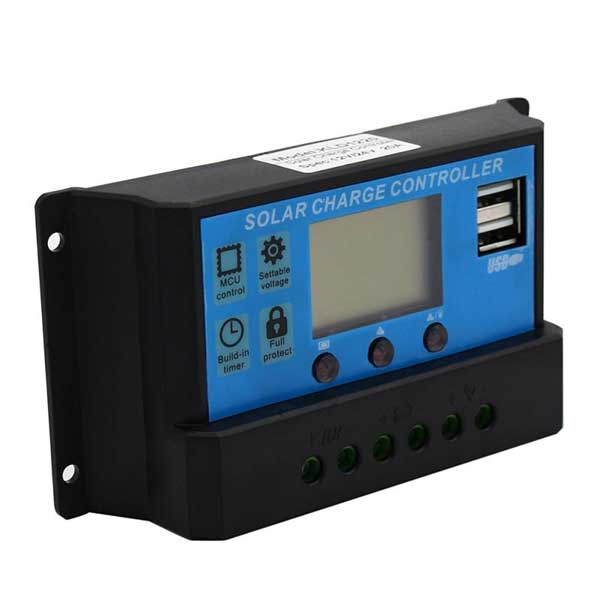 Pwm 30a Solar Charge Controller 12v 24v Lcd Display Dual