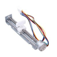DC 4V-9V 0.5A 2 Phases 4 Wires 18 Degrees Angle Stepper Motor with Nut Slider