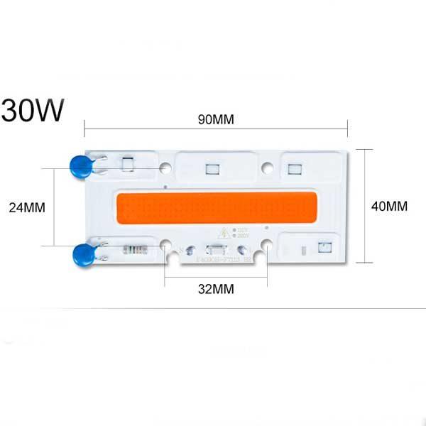 LED Phyto Lamp 30W 50W 70W High Power COB LED Chip Grow Lights Full Spectrum LED 110V