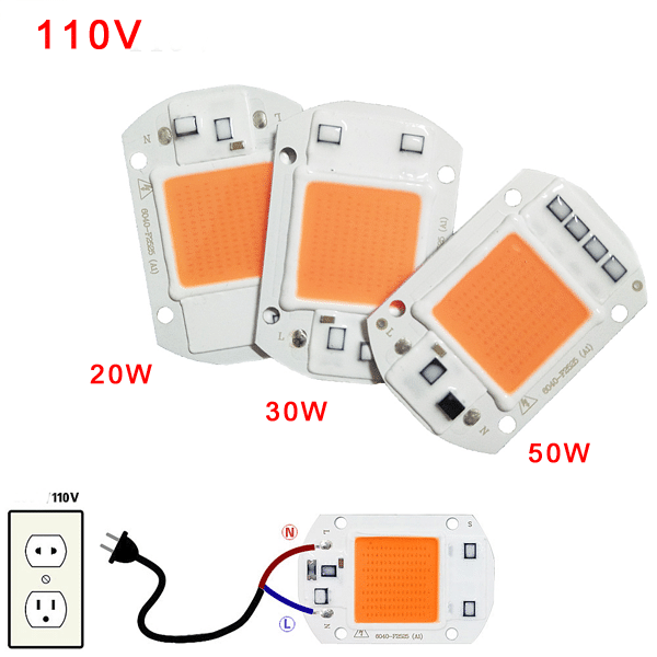 COB LED Grow Chip Phyto Lamp Full Spectrum LED Diode Grow Lights For Seedlings Indoor DIY Hydroponics AC 110V