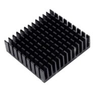 Heat Sink Aluminum Cooling Fin Heat Sink 40*40*11mm for Router CPU IC Black