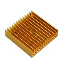 MK7 MK8 Extruder Heat Sink 40*40*11 Golden Metal 3D Printer Makerbot Prusa