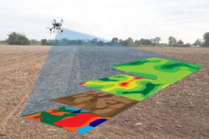 smart agriculture. Drones callecting data