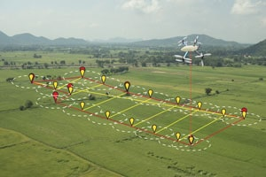 agriculture with artificial intelligence to measure the area.