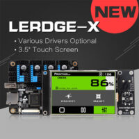 LERDGE-X 3D Printer Controller Board for Reprap 3d printer motherboard with ARM 32Bit Mainboard control with 3.5 Touch Screen