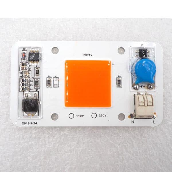 110V Led Chip COB light source 50w driverless solderless warm white chip for grow lamp. Warm White/ Cold White/ Full Spectrum