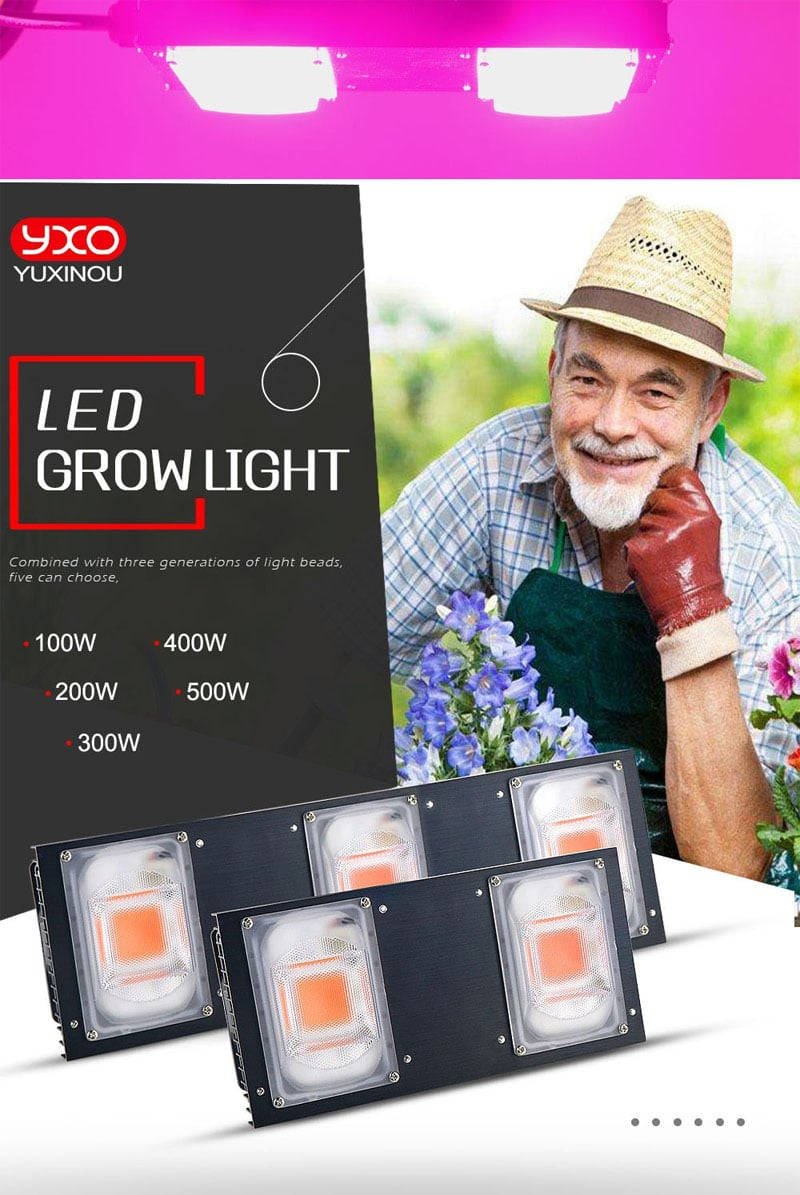 COB DOB Led Grow Light Full Spectrum 200W 400W For Vegetable Flower Indoor Hydroponic Greenhouse Plant Lamp
