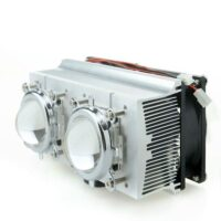 Double Aluminium Heatsink Copper Core Cooling Fan+Lens 60 degree For 20-200W High power LED (Heatsink+44mm lens)