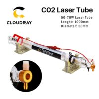 Cloudray Metal Head CO2 Laser Tube 50-70W L1000mm Dia.50mm CR50 Water Cooling for CO2 Laser Cutter. Upgraded CR Series