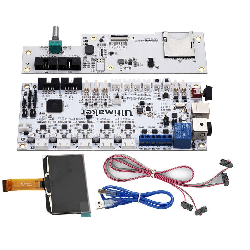 Ultimaker V2 Integrated Circuit Mainboard with OLED Screen Kit