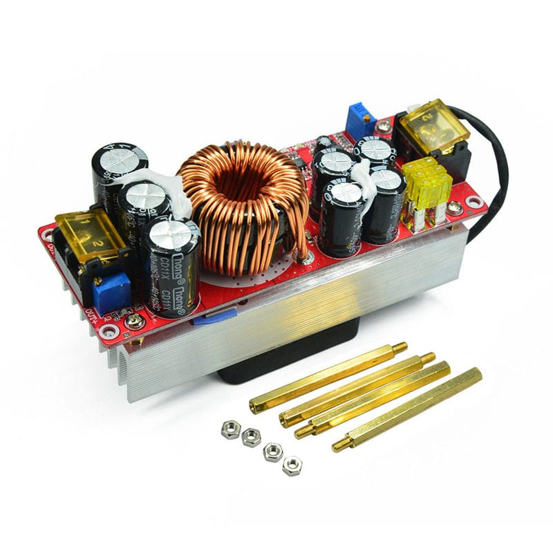 Step Up Power supply module. 1500W 30A DC-DC Boost Converter.  In 10-60V Out 12-90V