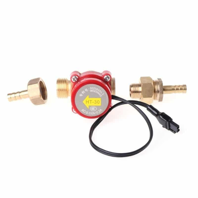 CloudRay Water Flow Switch Sensor DC 0-110V Caliber 8/10/12mm