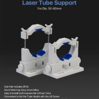 Cloudray Co2 Laser Tube Holders Flexible Dia.50-80mm Plastic Tube Support Rack for 50-180W Laser tube 1 Pair