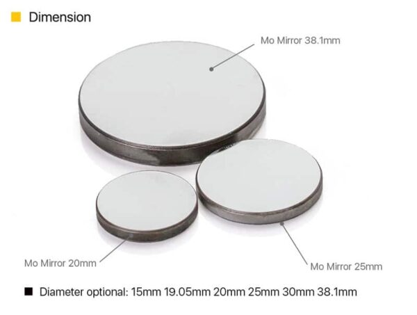 Cloudray Co2 Laser Lens Mo Mirrors Dia. 15mm 19.05mm 20mm 25mm 30mm 38.1mm