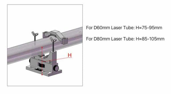 Cloudray Co2 Laser Tube Holders Flexible Dia.50-80mm Plastic Tube Support Rack for 50-180W Laser tube 1 Pair