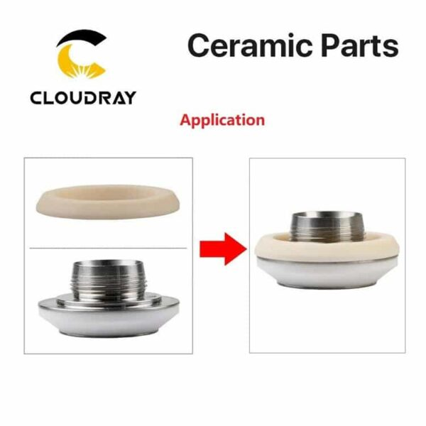Cloudray OEM HIGHYAG Laser Ceramic (NUKON) For Fiber Cutting Machine - Model C