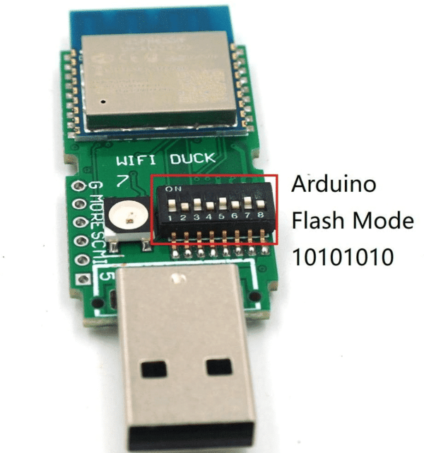 DSTIKE WIFI Duck. A microcontroller acts as a USB keyboard that is programmable over WiFi.