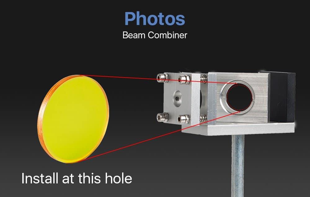 Laser Beam Combiner lens for CO2 Laser Engraving Cutting to Adjust Light Path