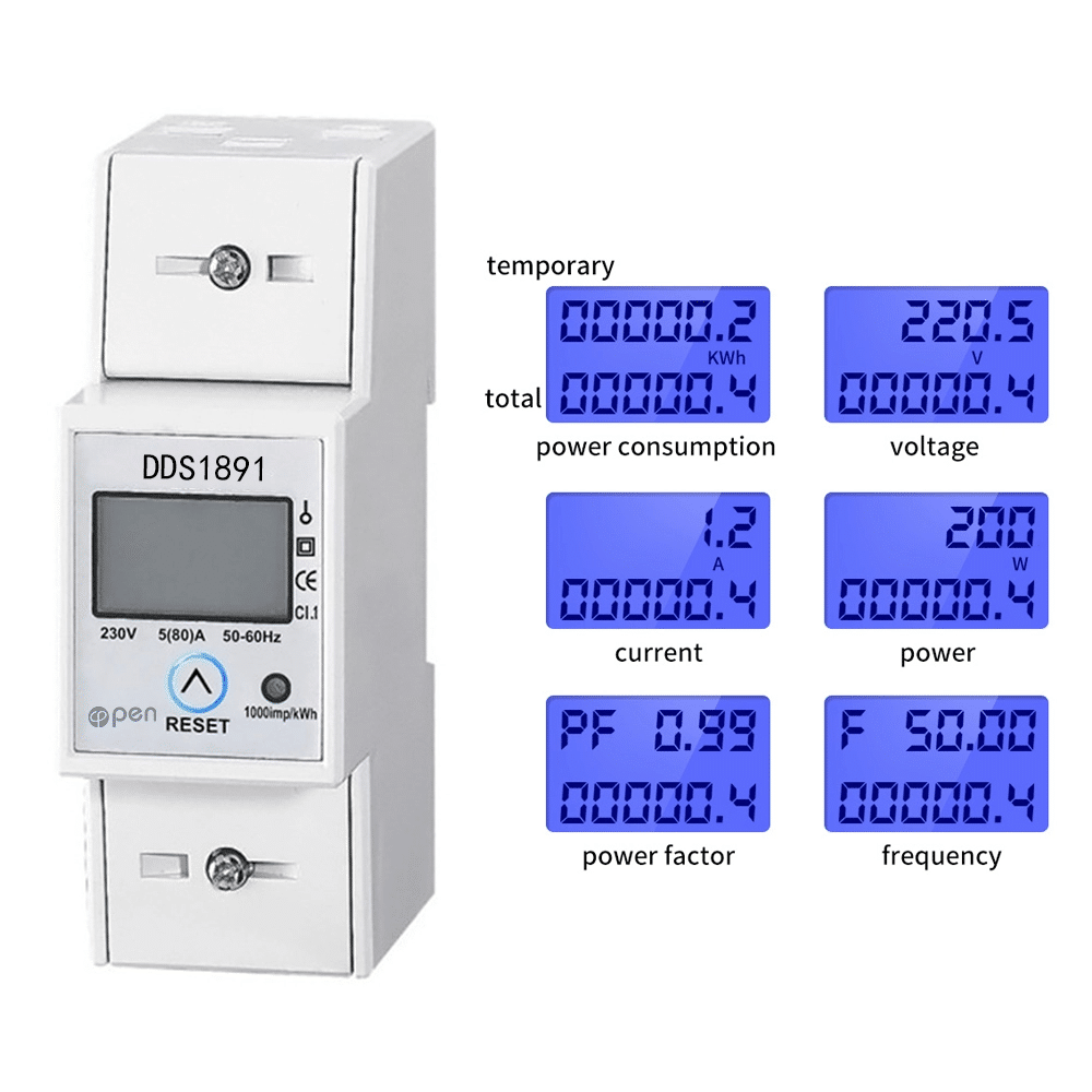 A 110V//220V with... Single phase Din rail 5 60 WiFi smart electric energy meter