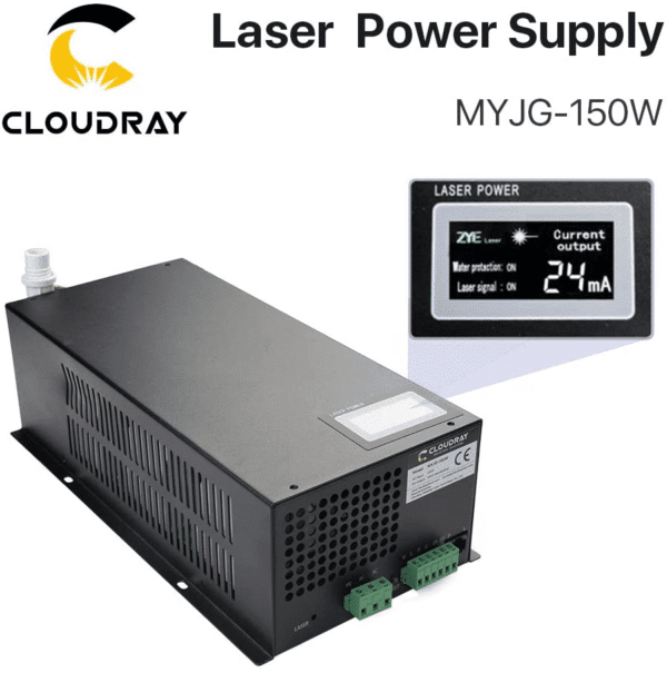 Cloudray 150W CO2 Laser Power Supply 220V MYJG-150W Monitor