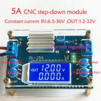 DC DC Buck Converter CC CV Power Module 1.2-32V 5A Adjustable Regulated power supply Voltmeter ammeter