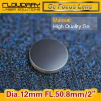High Quality Ge Focusing Lens DIa. 12mm Focal 50.8mm for CO2 Laser Engraving Cutting