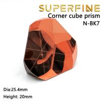BK7 copper coated 1inch Corner Cube Prism, Plated 25.4mm Trihedral Retroreflector 5 arc secs return Beam