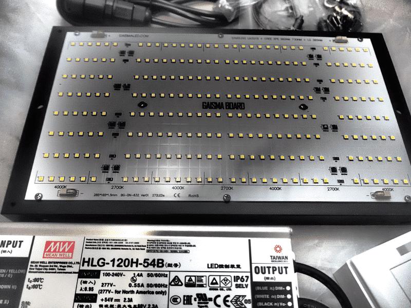Gaisma LED GB272K.120w.v2 120W Full Spectrum Grow Light Kit with Samsung LM 301b & CREEXPE red 660nm far red & LG uv