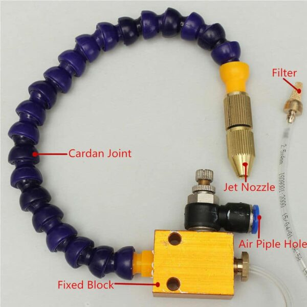 Mist Coolant Lubrication Spray System Sprayer for CNC Lathe and Milling Machine